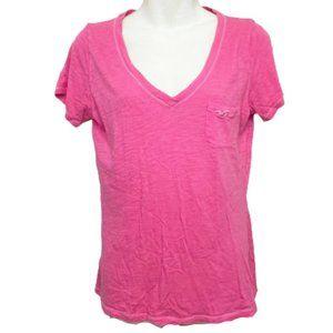 5/$35 Hollister Pink V-Neck T-Shirt - S